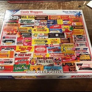 Vintage Candy Wrapper 1000 Piece Puzzle w/ box